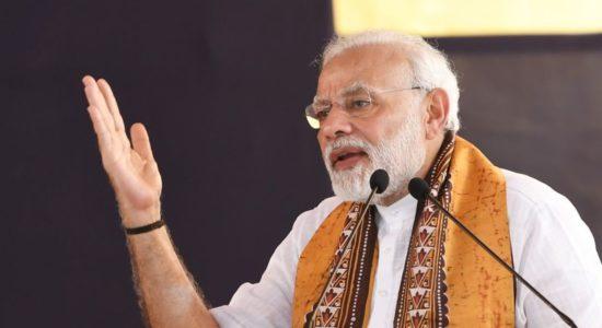 Modi at Shanti Niketan