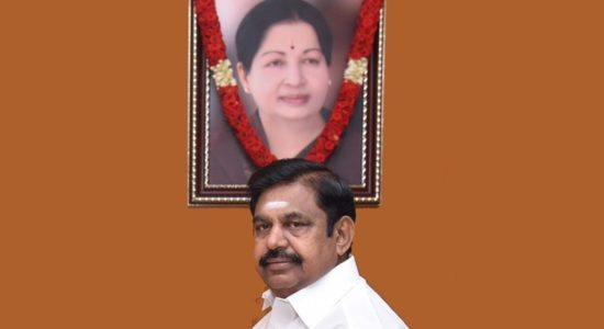Chief Minister E K Palaniswami