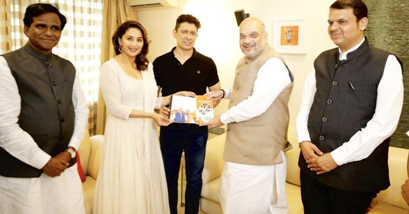 Madhuri and Amit Shah