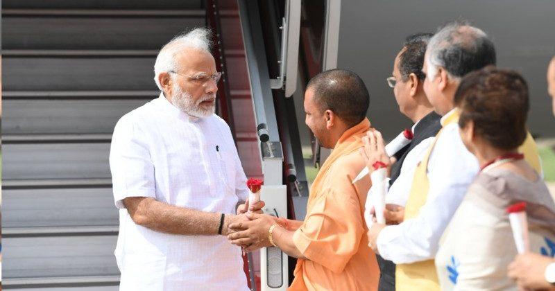 Modi welcomed Yogi