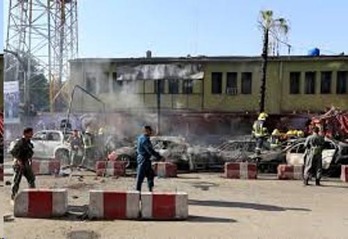 Afghanistan blast TV photo