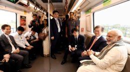 Modi in Delhi Metro
