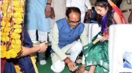 Girl child worship or Kanya Pooja
