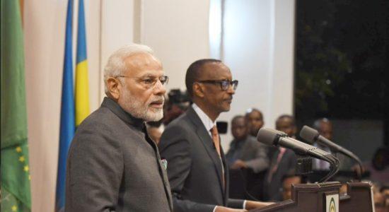Modi with Prez Rwanda