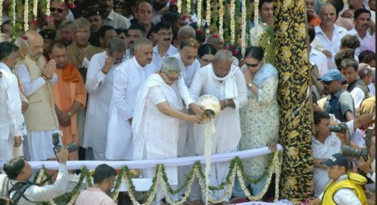 Vajpayee ashes immersed