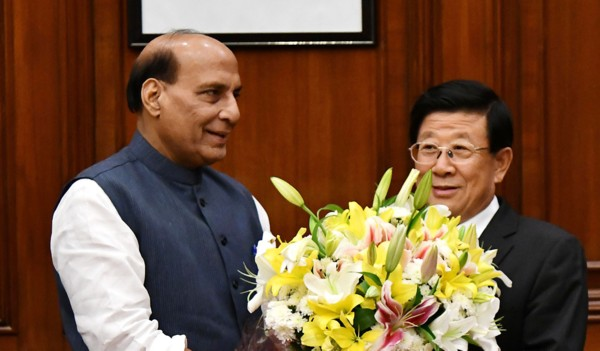 Rajnath and Zhao Kezhi