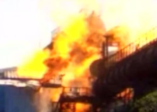Fire Bhilai Steel Plant TV photo