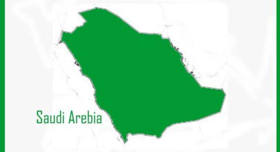 outline map Saudi Arebia