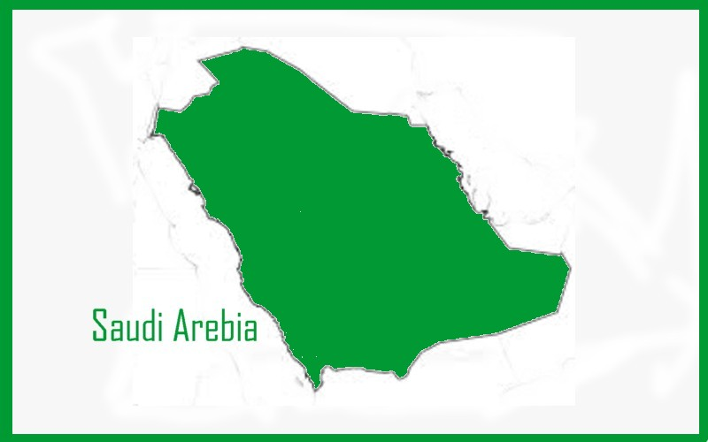 outline map Saudi Arebia