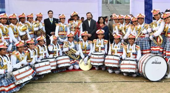 the winners of the National Inter School Band Competition-2018