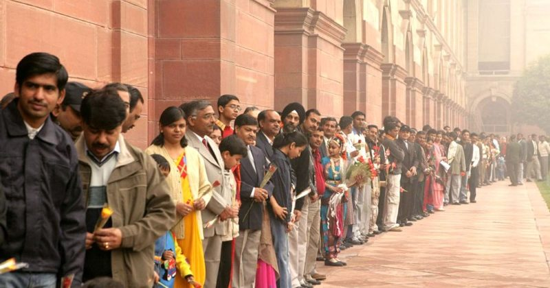 visitors at President House on New Year 2007