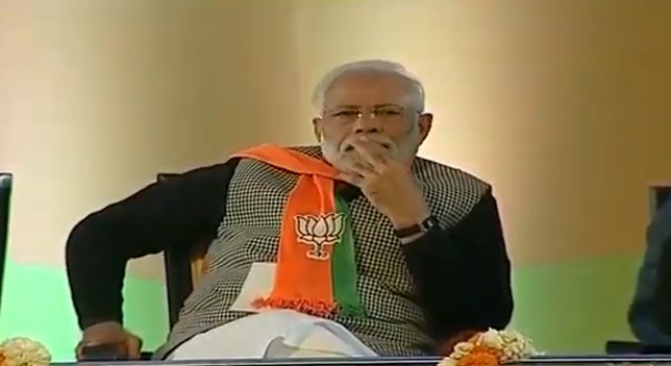Modi at Ramlila maidan