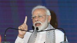 Modi addressing on Pulwama attack