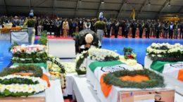 Modi paying homage to the Pulwama Attack martyred CRPF Jawans