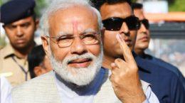 Modi Casting vote at Ranip Booth